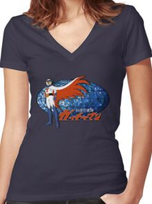 Gatchaman Ken The Eagle Women's Fitted V-Neck T-Shirt