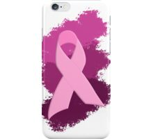 Pink Breast Cancer Ribbon iPhone Case/Skin