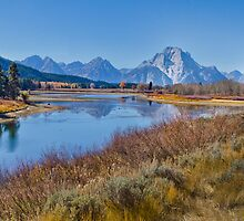 Fall Color at Oxbow Bend by Robert H Carney