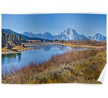 Fall Color at Oxbow Bend Poster