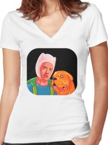 Furner And Jooch or Take And Hinn or Something Women's Fitted V-Neck T-Shirt