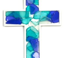 Custom Multi-Colored Glass Cross  Sticker