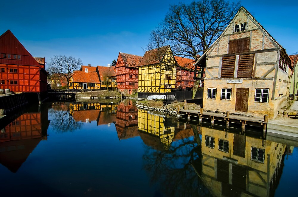 The old town of Aarhus by Andrea Rapisarda