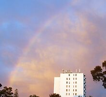 Rainbow At Dawn 9 - 23 10 12 by Robert Phillips