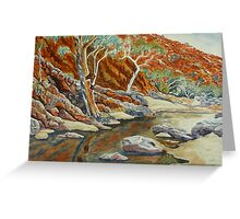 Redbank Gorge, West MacDonnell Ranges, NT Greeting Card