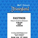 Disneyland's Opening Day Fastpass (iPhone 5 Version) by Rechenmacher