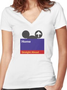Goin' Home Women's Fitted V-Neck T-Shirt