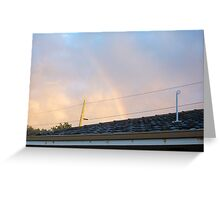 Rainbow Roof Seven - 23 10 12 Greeting Card