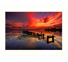 Gorokan Jetty Sunrise Art Print