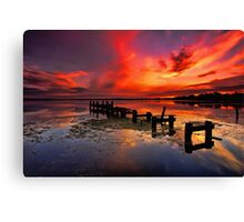 Gorokan Jetty Sunrise Canvas Print