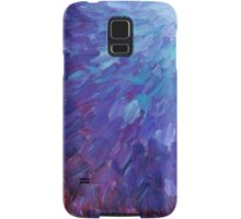 SCALES OF A DIFFERENT COLOR - Abstract Acrylic Painting Eggplant Sea Scales Ocean Waves Colorful Samsung Galaxy Case/Skin