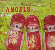 Little Girls are Little Angels by Barbara Cannon  ART.. AKA Barbieville