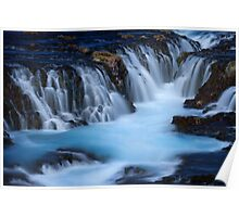 The Blue Waterfalls Poster
