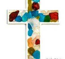Custom Multi-Colored Glass Cross Sticker