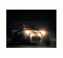 The Stig at Top Gear Live 2012 in a Caterham 7 Art Print