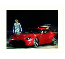 James May at Top Gear Live 2012 with an Aston Martin Zagato Art Print