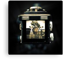 A look through the viewfinder of a Yashica D Canvas Print