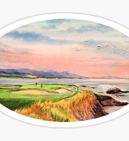 Pebble Beach Golf Course  Sticker