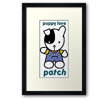 Puppy Love - Patch Framed Print