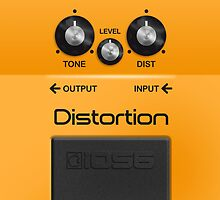 Boss Distortion Pedal – iPhone 5 Case by Alisdair Binning