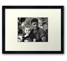 John and Levi, best brothers forever.  Framed Print