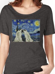 Starry Night Pugs Women's Relaxed Fit T-Shirt