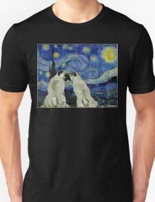 Starry Night Pugs T-Shirt