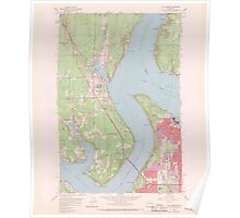 USGS Topo Map Washington State WA Gig Harbor 241268 1959 24000 Poster