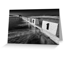 Ocean 10 - B&W Greeting Card