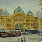 Flinders Street Station, Melbourne by Virginia  Coghill