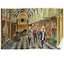Heading for Coffee, Royal Arcade, Melbourne Poster