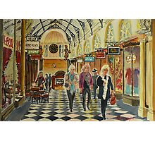 Heading for Coffee, Royal Arcade, Melbourne Photographic Print