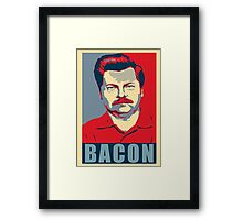 Ron hope swanson  Framed Print