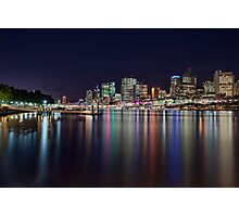 Lights of the City - South Bank, Brisbane NSW Photographic Print