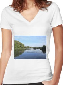 Cosmeston Lakes Women's Fitted V-Neck T-Shirt