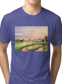 Muirfield Golf Course 18Th Green Tri-blend T-Shirt