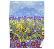 Blue Teasels Poster