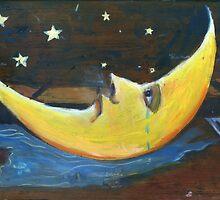 Sad Moon Crying by Nicholas  Beckett