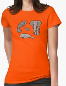 I Am Thankful For Paenungulates Womens Fitted T-Shirt