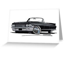 Cadillac Eldorado Biarritz (1962) Black Greeting Card