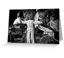 rickshaw pullers Greeting Card