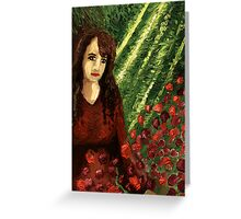 Woman in the Forest Greeting Card