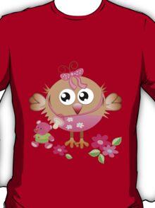 Baby bird and her Bear T-Shirt