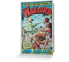 Warlord - Peter Flint Greeting Card