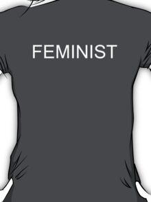 FEMINIST T-Shirt White on Black T-Shirt