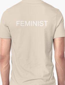 FEMINIST T-Shirt White on Black Unisex T-Shirt