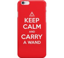Keep Calm & Carry a Wand iPhone Case iPhone Case/Skin