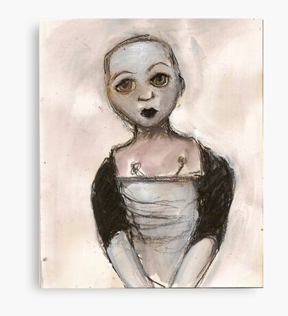 Stripped doll Canvas Print