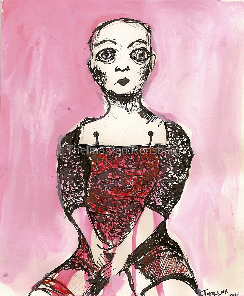 Stripped doll 1 by Thelma Van Rensburg