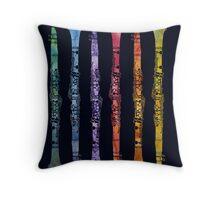 Rainbow Clarinets Throw Pillow